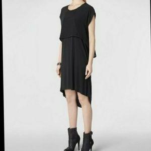 All Saints black hi low dress S